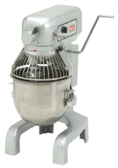 Berkel PM20 20 Qt Planetary Mixer w/ SS Bowl, Flat Beater, Wire Whip, Spiral Dough Hook