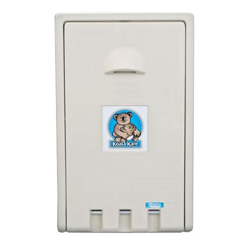 Koala Kare KB101-00 Vertical Wall-Mounted Changing Station - Polyethylene, Cream