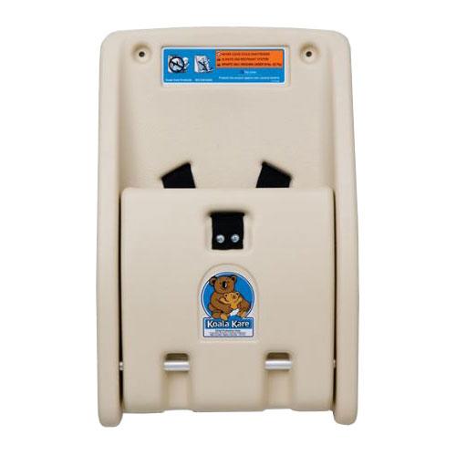 Koala Kare KB102-00 Wall-Mounted Child Protection Seat w/ Safety Straps - Polyethylene, Cream