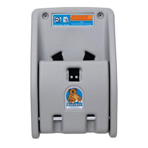 Koala Kare KB102-01 Wall-Mounted Child Protection Seat w/ Safety Straps - Polyethylene, Gray