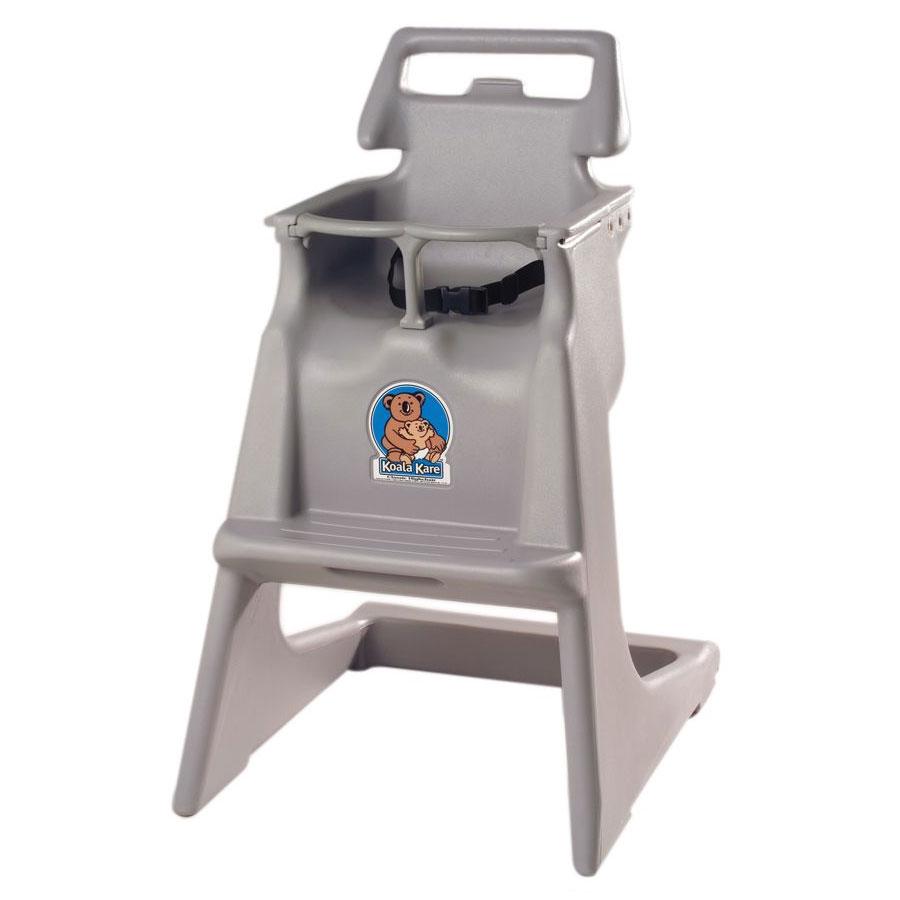 "Koala Kare KB103-01 33.75"" Stackable High Chair w/ Waist Strap - Polyethylene, Gray"