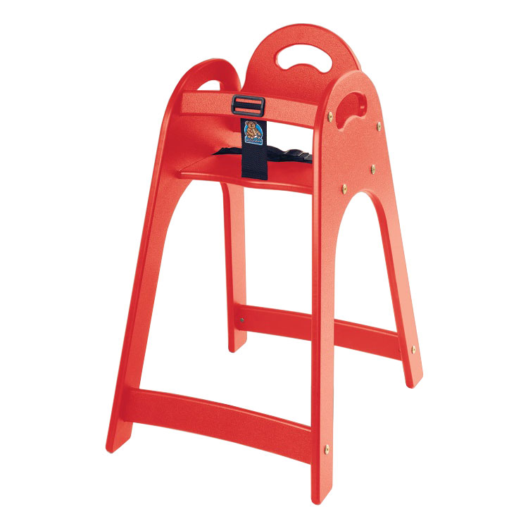"Koala Kare KB105-03 29.5"" Stackable High Chair w/ Waist Strap - Polyethylene, Red"