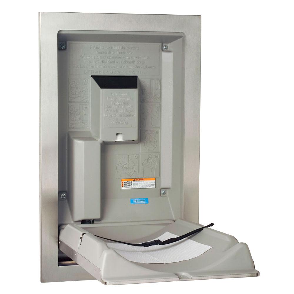 Koala Kare KB111-SSRE Vertical Recess-Mounted Changing Station - Polyethylene, Gray