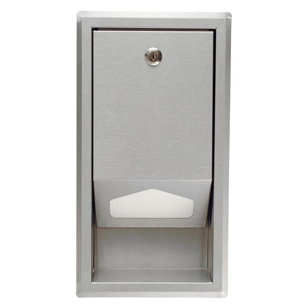 Koala Kare KB134-SSLD Recess-Mounted Sanitary Liner Dispenser w/ 100-Liner Capacity, Stainless Steel