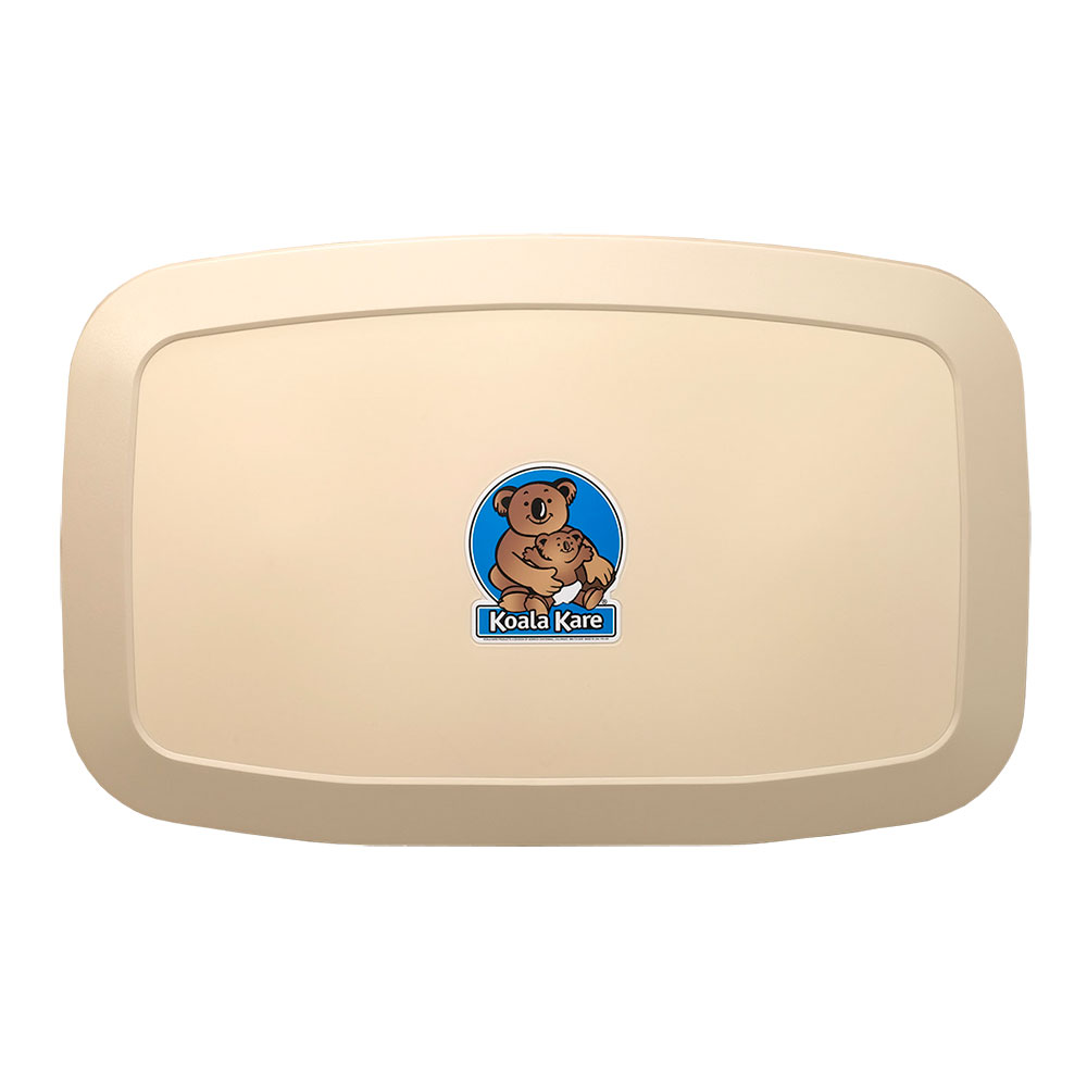 Koala Kare KB200-00 Horizontal Wall-Mounted Changing Station - Polypropylene, Cream