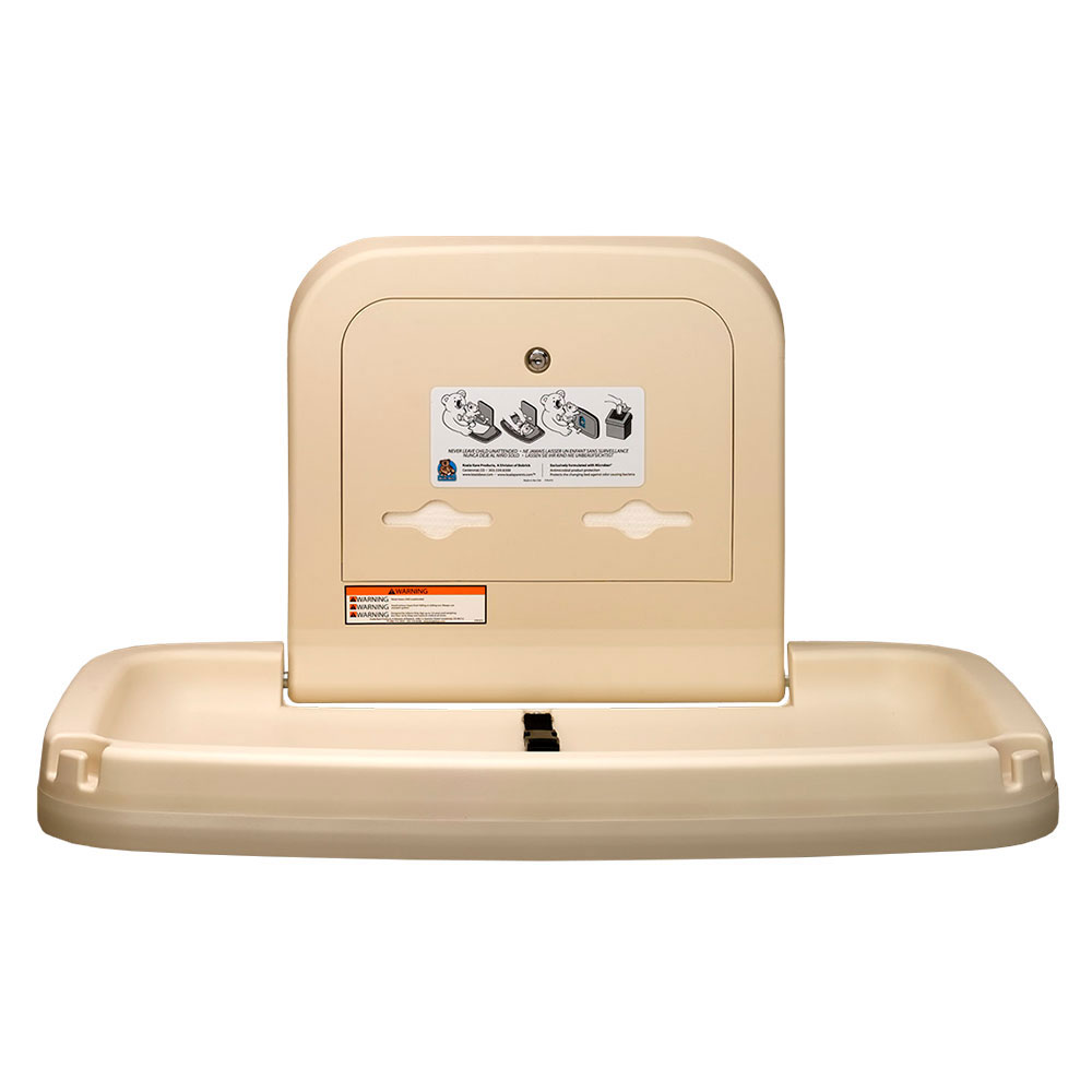 Koala Kare KB200-11 Horizontal Wall-Mounted Changing Station - Polypropylene, Earth