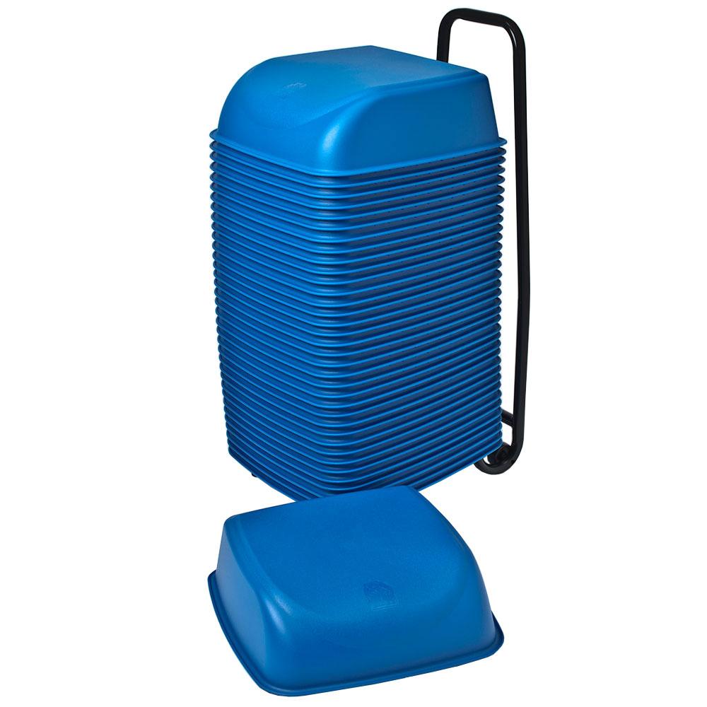 Koala Kare KB424-04 Single-Height Cinema Booster Seats w/ Rolling Cart - Plastic, Blue