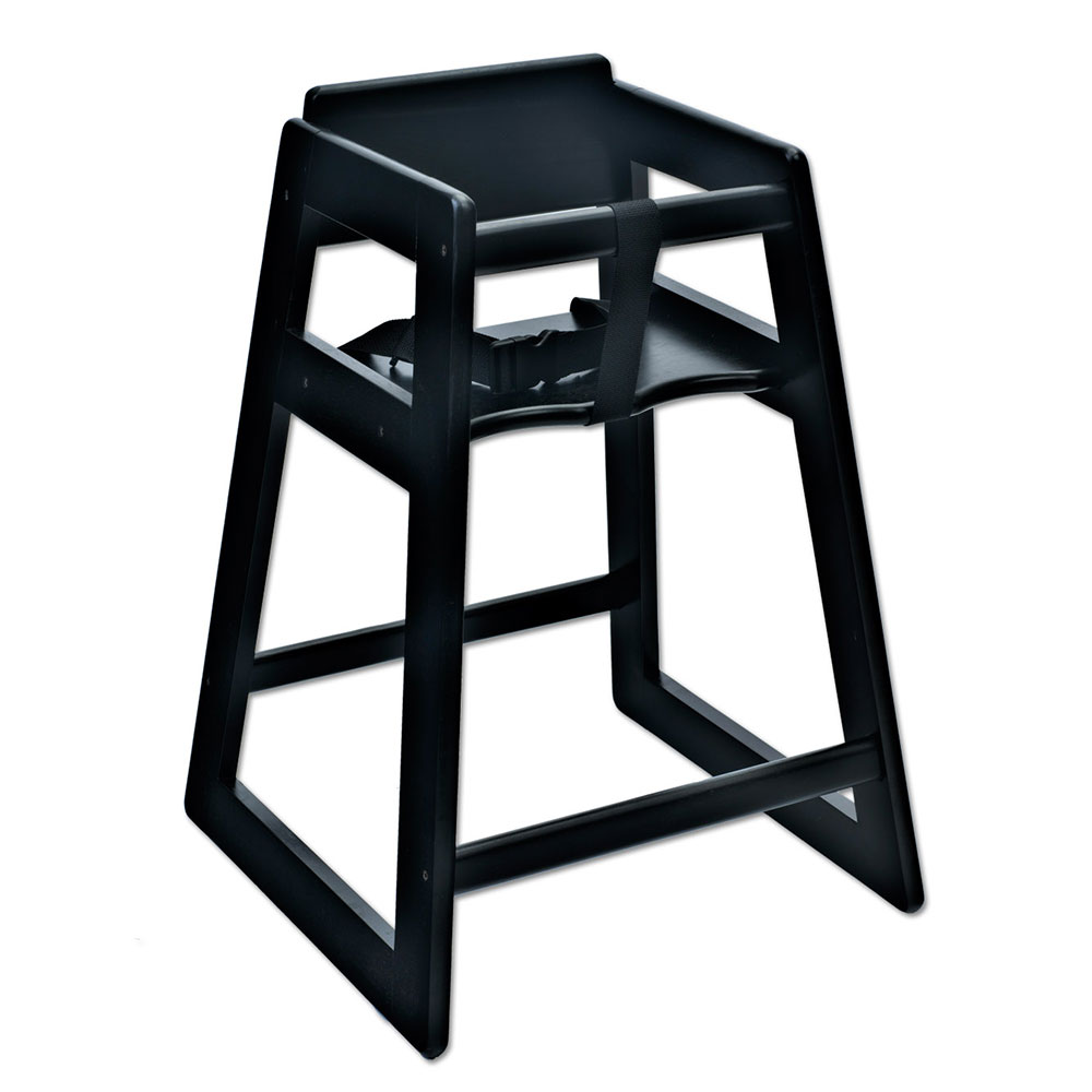 "Koala Kare KB800-22 27.5"" Stackable High Chair w/ Waist Strap - Wood, Black"