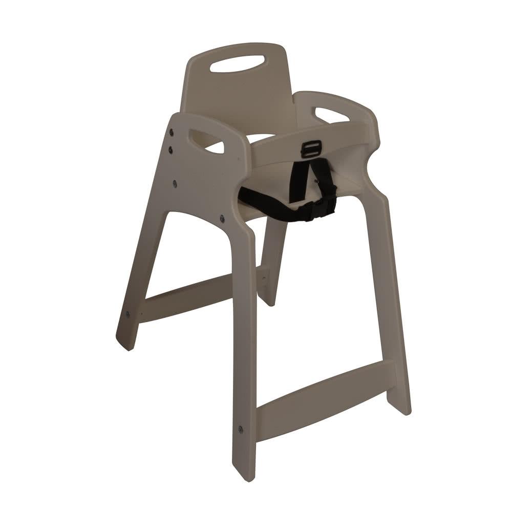 "Koala Kare KB833-01 29.5"" Stackable High Chair w/ Waist Strap - Plastic, Light Gray"