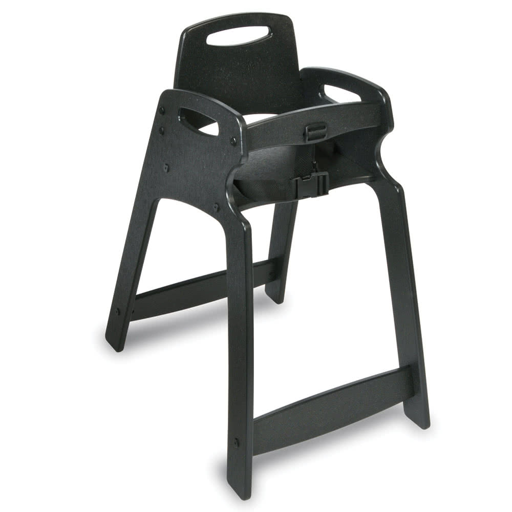 "Koala Kare KB833-02 29.5"" Stackable High Chair w/ Waist Strap - Plastic, Black"