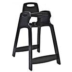 "Koala Kare KB833-02-KD 29.5"" Stackable High Chair w/ Waist Strap - Plastic, Black"