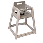 "Koala Kare KB850-01 29.38"" Stackable High Chair w/ Waist Strap - Plastic, Gray"