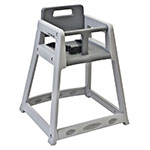 "Koala Kare KB850-01-KD 29.38"" Stackable High Chair w/ Waist Strap - Plastic, Gray"