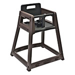 "Koala Kare KB850-09-KD 29.38"" Stackable High Chair w/ Waist Strap - Plastic, Brown"