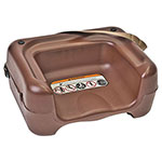 Koala Kare KB854-09S Dual-Height Booster Seat w/ Waist Strap - Plastic, Brown