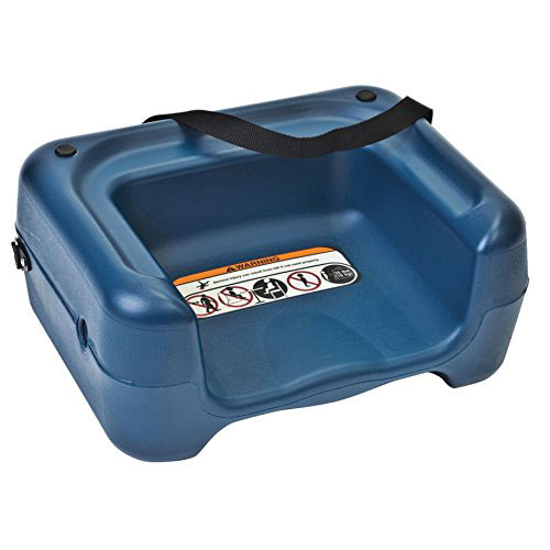 Koala Kare KB855-04S Dual-Height Booster Seat w/ Safety Strap - Plastic, Blue