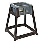 "Koala Kare KB866-01 27"" High Chair/Infant Seat Cradle w/ Waist Strap - Plastic, Brown/Dark Gray"