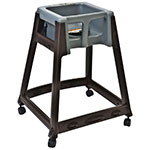 "Koala Kare KB866-01W 27"" High Chair/Infant Seat Cradle w/ Waist Strap & Casters - Plastic, Brown/Dark Gray"