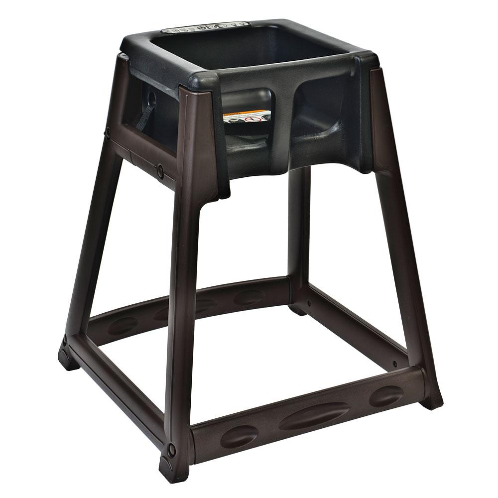 "Koala Kare KB866-02 27"" High Chair/Infant Seat Cradle w/ Waist Strap - Plastic, Brown/Black"