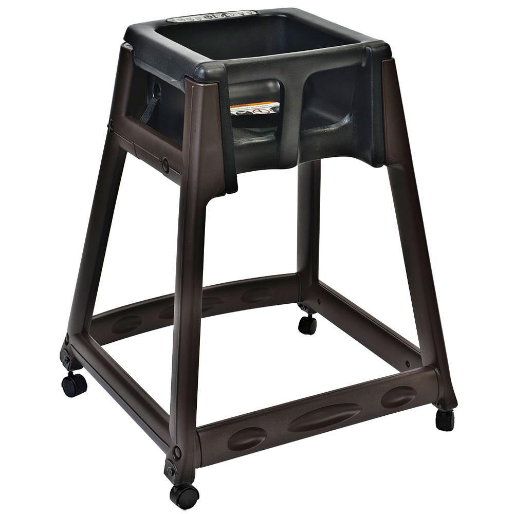 "Koala Kare KB866-02W 27"" High Chair/Infant Seat Cradle w/ Waist Strap & Casters - Plastic, Brown/Black"