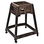 "Koala Kare KB866-09W 27"" High Chair/Infant Seat Cradle w/ Waist Strap & Casters - Plastic, Brown"