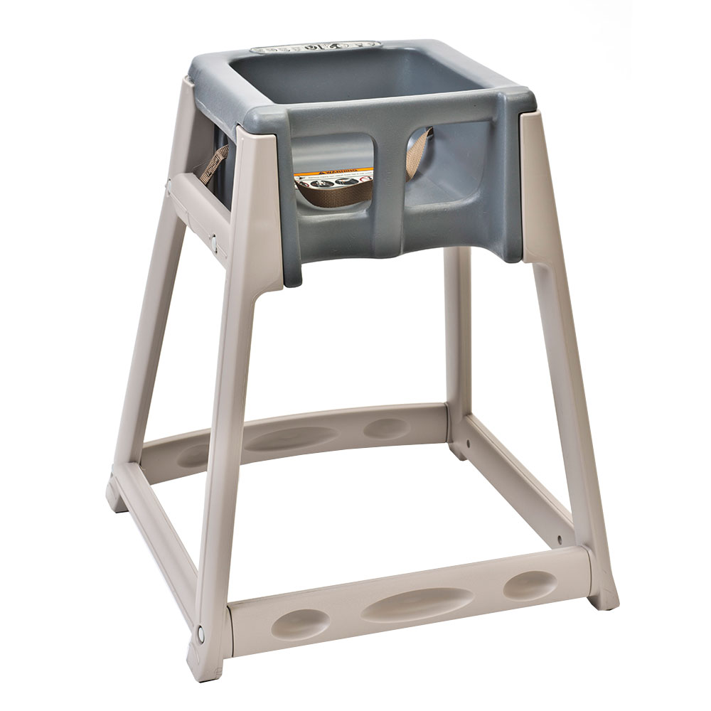 "Koala Kare KB888-01 27"" High Chair/Infant Seat Cradle w/ Waist Strap - Plastic, Beige/Gray"