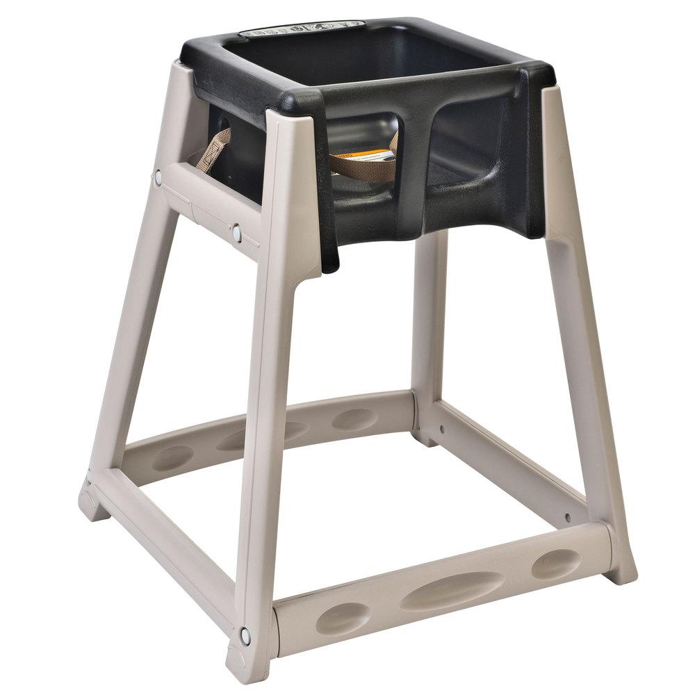 "Koala Kare KB888-02 27"" High Chair/Infant Seat Cradle w/ Waist Strap - Plastic, Beige/Black"