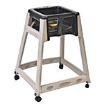 "Koala Kare KB888-02W 27"" High Chair/Infant Seat Cradle w/ Waist Strap & Casters - Plastic, Beige/Black"