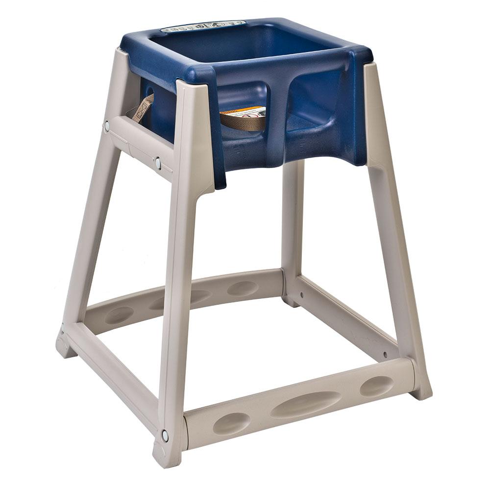 "Koala Kare KB888-04 27"" High Chair/Infant Seat Cradle w/ Waist Strap - Plastic, Beige/Blue"