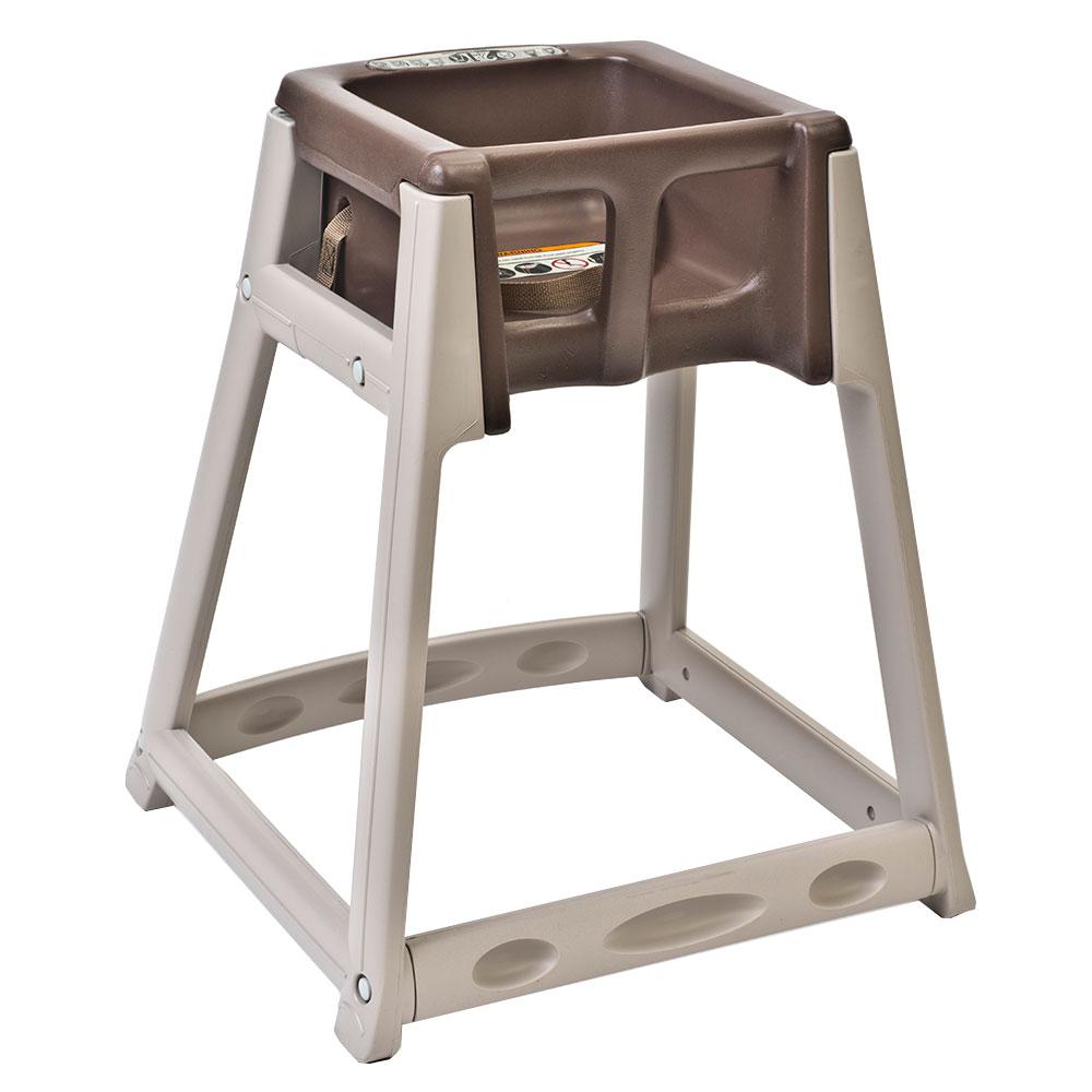 "Koala Kare KB888-09 27"" High Chair/Infant Seat Cradle w/ Waist Strap - Plastic, Beige/Brown"