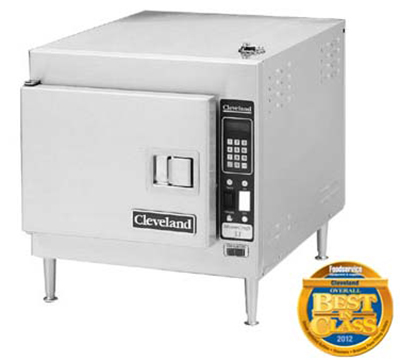 Cleveland 21CET8 Electric Countertop Steamer w/ (3) Full Size Pan Capacity, 240v/1ph