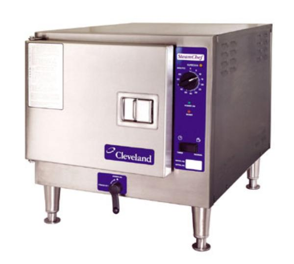 Cleveland 22CET3.12083 Countertop Convection Steamer For 3-Pans w/ Auto Drain & Water, 208/3