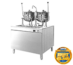 "Cleveland 36EMK6624 2403 Kettle Cabinet Assembly w/ 36"" Wide Base & (2)6-gal Kettle, Stainless, 240/3 V"