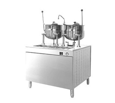 "Cleveland 36EMK6624 36"" Kettle Cabinet Assembly w/ (2) 6-Gallon, Boiler, Double Faucet, 208/3v"