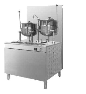 Cleveland 42GMK612200 NG 42-Cabinet Assembly w/ (1) 6-Gallon & (1) 12-Gallon Kettle, NG