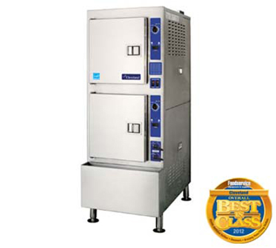 Cleveland 24CGA10.2ES LP 2-Compartment Pressureless Convection Steamer w/ 5-Pan Capacity, LP