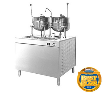 "Cleveland 24DMK6 6-Gallon Direct Steam Kettle w/ 24"" Cabinet Base, Stainless"