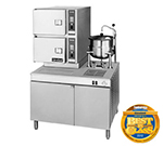 Cleveland 42CKEM24 2083 2-Compartment Convection Steamer w/ (1) 6-Gallon Tilt Kettle, 208/3 V