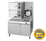 Cleveland 42CKGM300 NG 2-Compartment Convection Steamer w/ (1) 6-Gallon Kettle, Tilt, NG