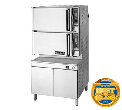 Cleveland 36PCEM48 2-Compartment Dual-Pressure Convection Steamer w/ 8-Pan Capacity, 208/3v