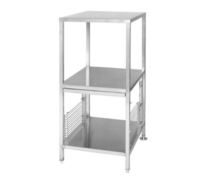 Cleveland ES2446 2-Shelf Stacking Stand w/ 1-Set Pan Racks, Adjustable Legs