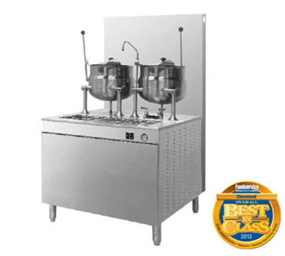 Cleveland 36GMK66200 NG Kettle Cabinet Assembly w/ (2) 6-Gallon Kettles, 36-in Base, NG