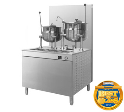 Cleveland 36GMK1010200 LP Kettle Cabinet Assembly w/ (2) 10-Gallon Kettles, 36-in Base, LP