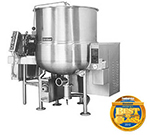 Cleveland HA-MKGL-100 LP 100-Gallon Stationary Mixer Kettle w/ Horizontal Agitator, LP