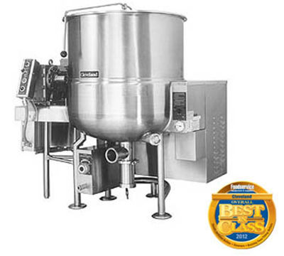 Cleveland HA-MKGL-100 NG 100-Gallon Stationary Mixer Kettle w/ Horizontal Agitator, NG