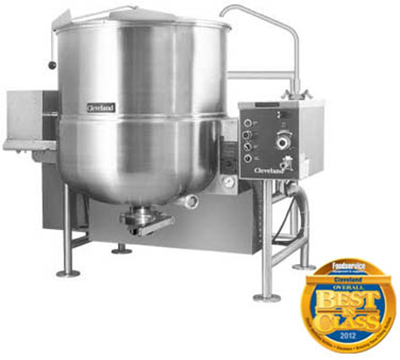 Cleveland HA-MKGL-100-T LP 100-Gallon Tilting Mixer Kettle w/ Horizontal Agitator, LP