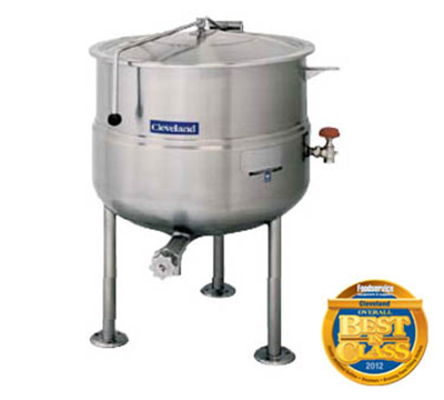 Cleveland KDL-100 100-Gallon Direct Steam Kettle w/ Open Tri-Leg Base, 50 PSI