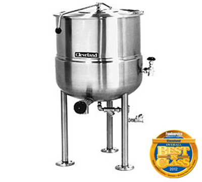 Cleveland KDL-200 200-Gallon Direct Steam Kettle w/ Open Tri-Leg Base, 2/3 Steam Jacket