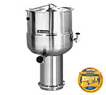 Cleveland KDP-40 40-Gallon Direct Steam Kettle w/ Pedestal Base, 2/3 Steam Jacket