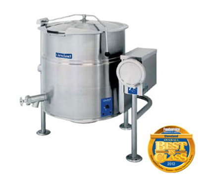 Cleveland KEL-80-T 2403 80-Gallon Tilting Kettle w/ Open 3-Leg, 2/3 Steam Jacket, 240/3 V